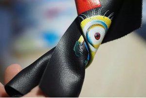 A3 سائز UV WER-E2000UV سے نرم چمڑے کی پرنٹنگ نمونہ