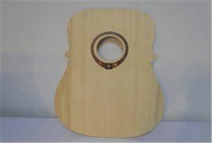 A2 سائز UV پرنٹر WER-DD4290UV سے لکڑی گٹار نمونہ